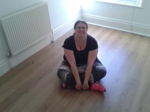 Jess in the empty Brighton flat