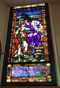 Stained Glass in Memory of Washington's Mum