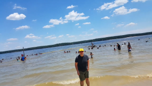 Lovely day at the beach on Jordan Lake
