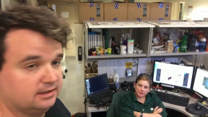 """Robbi thinking: """"Why is Chris still in my office?"""""""